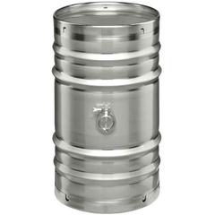 25 Gallon Stainless Steel Wine Barrel w/2