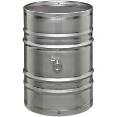 55 Gallon Stainless Steel Wine Barrel w/2