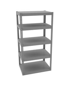 "High-Capacity Rivet Shelving w/5 Shelves 36"" x 18"" x 72"""