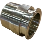 """2"""" MNPT x 2"""" Tri-Clamp Sanitary Stainless Steel Adapter"""