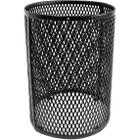 30 Gallon Black Metal Trash Receptacle Cage