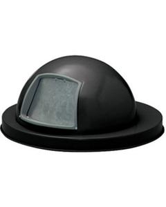 55 Gallon Black Steel Dome Trash Receptacle Lid