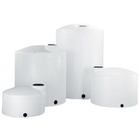 "102"" x 79"" 1,100 Gallon White HDPE Vertical Storage Tank"