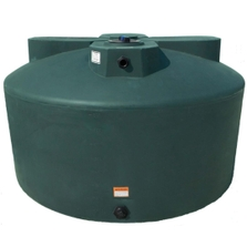 1,075 Gallon Dark Green HDPE Vertical Water Storage Tank