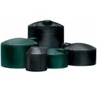 2,450 Gallon Black HDPE Vertical Water Storage Tank