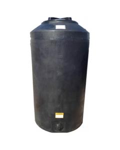 165 Gallon Black HDPE Vertical Water Storage Tank