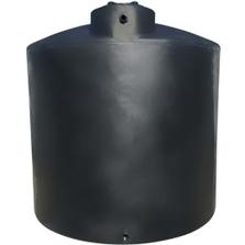 6,500 Gallon Black HDPE Vertical Water Storage Tank