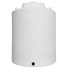 12,000 Gallon White HDPE Vertical Storage Tank