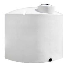 11,000 Gallon White HDPE Vertical Storage Tank