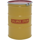 55 Gallon Steel Salvage Drum, Cover w/Bolt Ring Closure (16/18 Gauge)