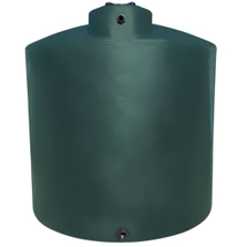 11,000 Gallon Dark Green HDPE Vertical Water Storage Tank