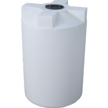 130 Gallon White HDPE Vertical Storage Tank
