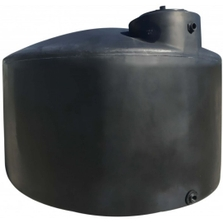 "1,000 Gallon Black HDPE Vertical Water Storage Tank, 72"" x 66"""