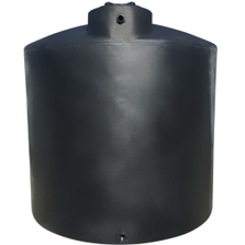 2,000 Gallon Black HDPE Vertical Water Storage Tank