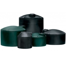 3,450 Gallon Black HDPE Vertical Water Storage Tank