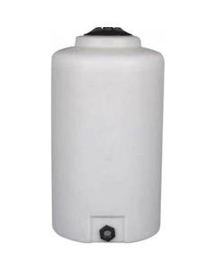 65 Gallon White HDPE Vertical Storage Tank