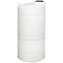 6,502 Gallon White HDPE Vertical Storage Tank