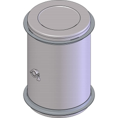 60 Gallon Stainless Steel Wine Barrel w/2