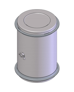 "60 Gallon Stainless Steel Wine Barrel w/2"" Tri-Clover"