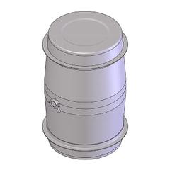 80 Gallon Stainless Steel Wine Barrel w/2