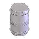 "80 Gallon Stainless Steel Wine Barrel w/2"" Tri-Clover"