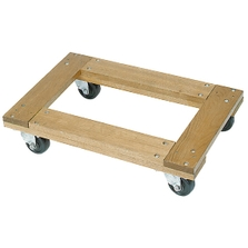"""24"""" x 16"""" Wood Dolly, Flush Open Deck, 3"""" Casters, 900 lb. Capacity"""