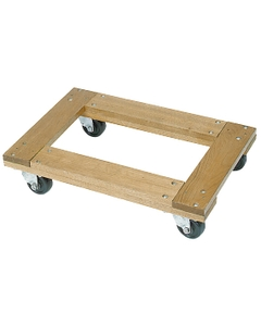 """24"""" x 16"""" Wood Dolly, Flush Open Deck, 4"""" Casters, 1,200 lb. Capacity"""