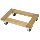 """30"""" x 18"""" Wood Dolly, Flush Open Deck, 4"""" Casters, 1,200 lb. Capacity"""