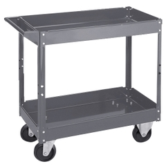 "16"" x 30"" Steel Service Cart, 500 lb. Capacity"