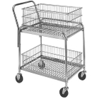 """20"""" x 33"""" Wire Office File Cart, 200 lb. Capacity"""