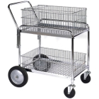 """23.75"""" x 33.5"""" Wire Office File Cart, 200 lb. Capacity"""