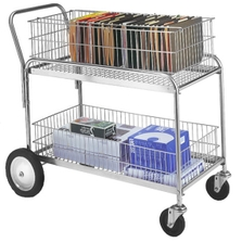 """23.75"""" x 43"""" Wire Office File Cart, 250 lb. Capacity"""