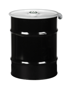 """10 Gallon Steel Drum, UN Rated, Cover w/Bolt Ring Closure, 2"""" & 3/4"""" Fittings"""