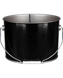2.5 Gallon Black Steel Pail, UN Rated, Unlined