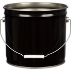 3.5 Gallon Black Open Head Steel Pail, UN Rated, Unlined