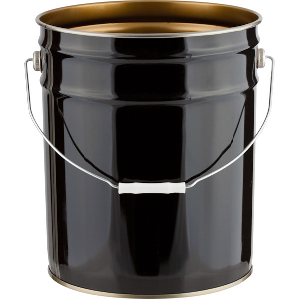 Open Head Gold Phenolic Lined Steel Pails