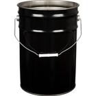 6 Gallon Black Steel Open Head Steel Pail (26 Gauge), UN Rated, Unlined