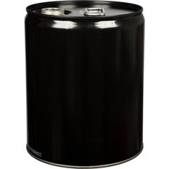 5 Gallon Black Tight Head Steel Pail, 2-1/8 Spout