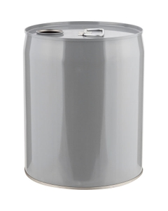 5 Gallon Gray Tight Head Steel Pail with Pigmented Phenolic Lining and Rieke Opening, UN Rated