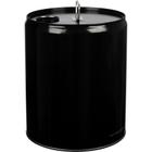 5 Gallon Black Tight Head Steel Pail, Rieke Opening, Unlined