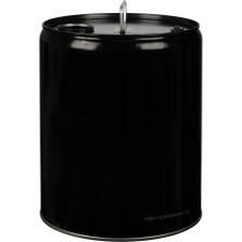 5 Gallon Black Tight Head Steel Pail, Rieke Opening & Polyvent