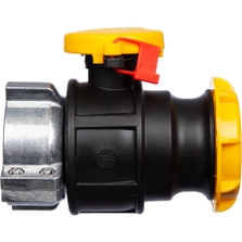 """2"""" Camlock Valve for 62mm IBC Tote Outlets"""