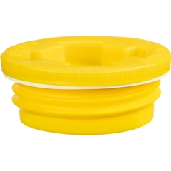 """2"""" Buttress Yellow HDPE Drum Plug w/Vent, EPDM Gasket"""
