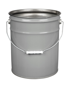 5 Gallon Gray Open Head Steel Pail, UN Rated, Unlined