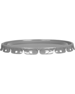 24 Gauge Gray Steel Lug Cover, UN Rated, Unlined (For Use On 26WA4N)