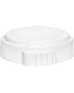 """3/4"""" All Plastic LDPE White Tamper Evident Capseal for Steel T-Style Fitting Drums, Hand Applied, Large EZ Gruip Tear Band"""