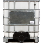 """275 Gallon Rebottled IBC Tote with 2"""" NPT Valve, Steel Pallet"""