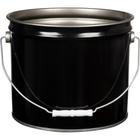 3.5 Gallon Black Open Head Steel Pail (26 Gauge), UN Rated, Unlined