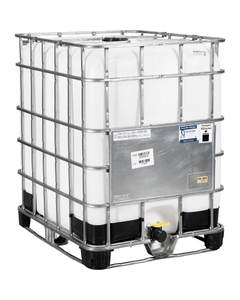 """330 Gallon IBC Tote, Rebottled, UN Rated, 2"""" Camlock Valve, Composite Pallet"""