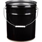 5 Gallon Black Open Head Steel Pail (28/26 Gauge) UN Rated, Unlined